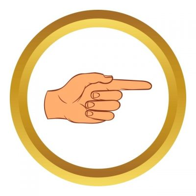 Pngtree Pointing Hand Gesture Vector Icon Cartoon Style Png Image 1871882